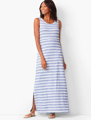 Tie-Back Stripe Maxi Dress