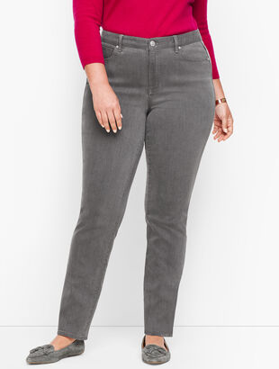 Plus Size Straight Leg Jeans - Deep Grey