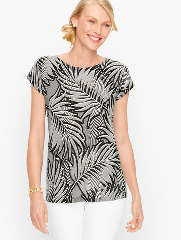 Bateau Neck Pullover - Palm Frond