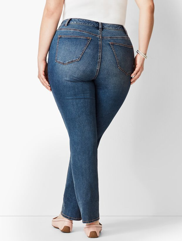 f8234a0634 Plus Size Exclusive High-Rise Straight-Leg Jeans - Baxter Wash