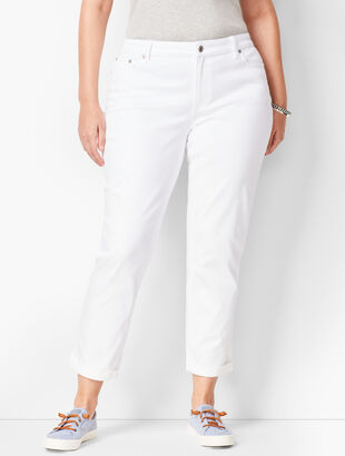 Girlfriend Jeans - Curvy Fit - White