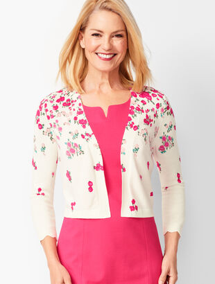 Scallop-Edge Shrug - Floral