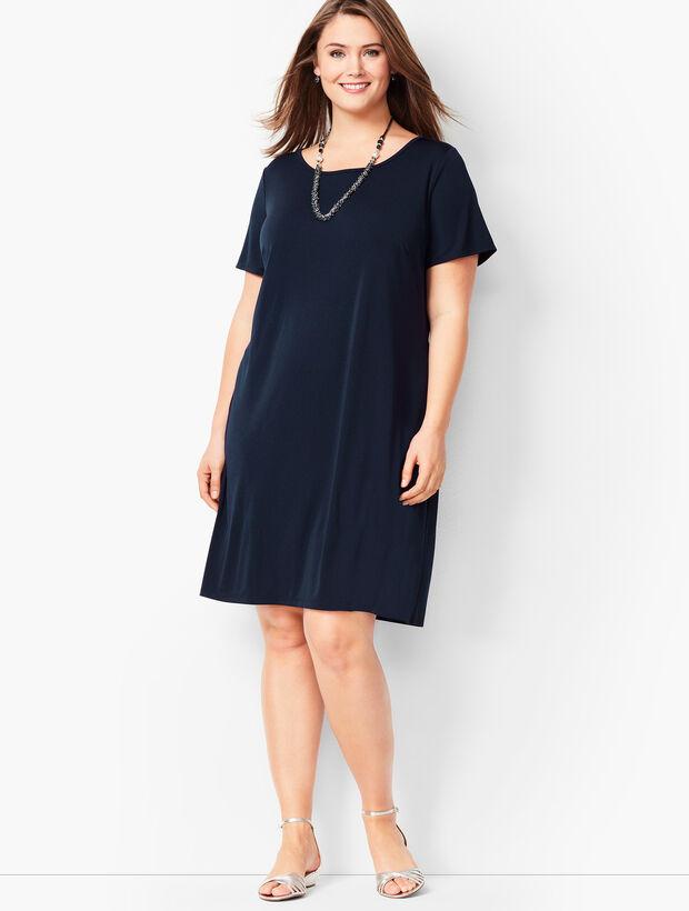 Plus Size Knit Jersey Shift Dress
