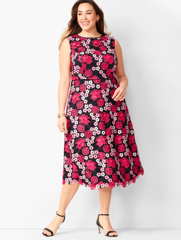 Floral Lace Fit & Flare Dress