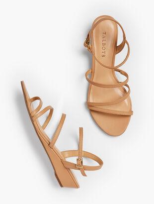 Capri Multi-Strap Mini-Wedge Sandals - Nappa Leather