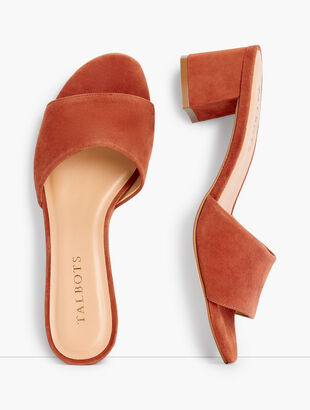 Georgia Suede Block Heel Slides