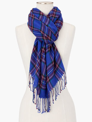 Cheery Plaid Oblong Scarf