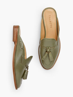 Leighton Leather Mules