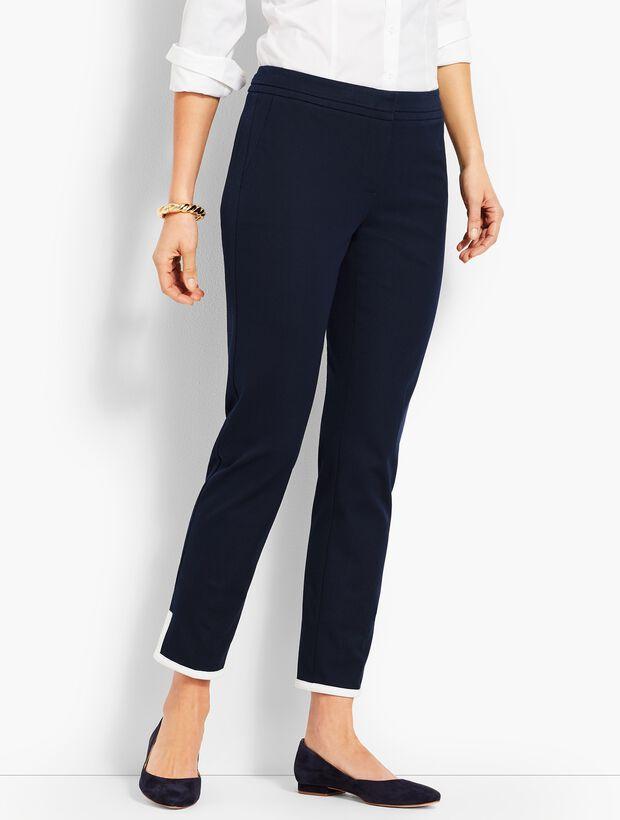 Tipped Bi-Stretch Slim Ankle Pant