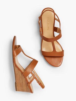 Royce Vachetta T-Strap Wedge Sandals