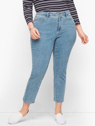 Plus Size Exclusive Jegging Crops - Curvy Fit - Montrose Wash
