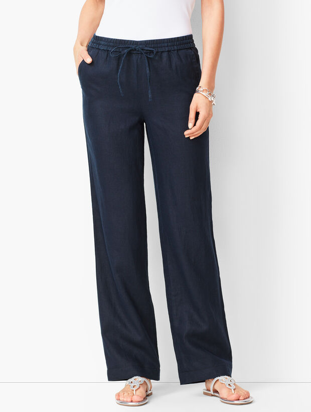 15afb33d Washed Linen Wide-Leg Pants