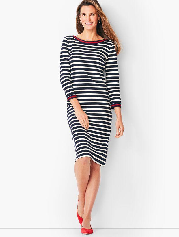 Stripe Cotton Shift Dress