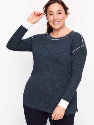 Mesh Trim Sweater