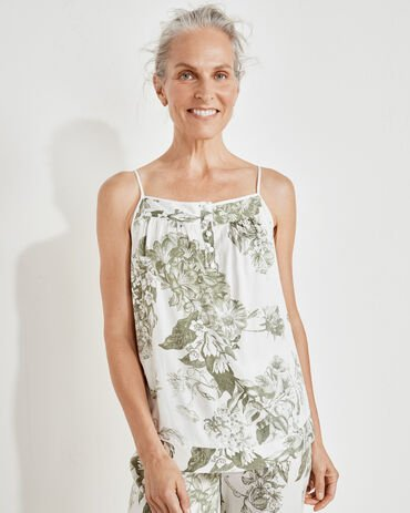 Washable Silk Blooming Toile Cami