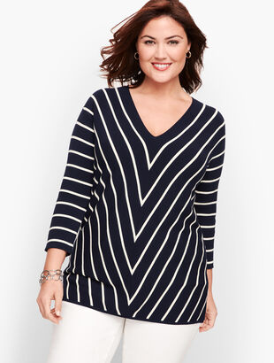 Bias Stripe Sweater