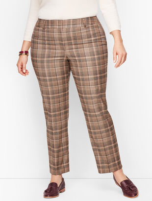 Plus Size Talbots Hampshire Ankle Pants - Luxe Flannel Plaid