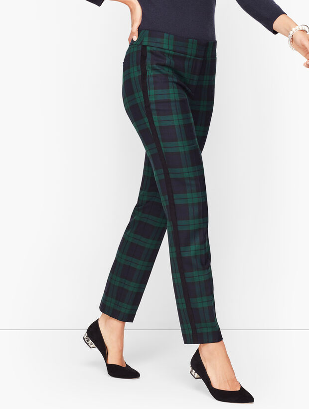Talbots Hampshire Ankle Pants - Black Watch Plaid