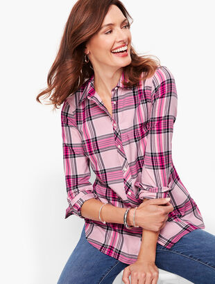 Classic Flannel Shirt - Pink Quartz Plaid