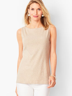 Pima Bateau-Neck Tank - Heather
