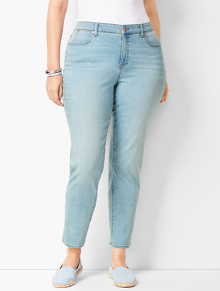 Plus Size Slim Ankle Jeans - Solar Wash - Curvy Fit