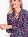 Pleated Sleeve Top - Confetti Dot