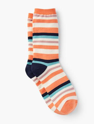 Cozy Stripe Trouser Socks