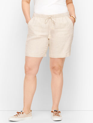 """Linen Shorts - 6"""" - Cross-Dyed"""