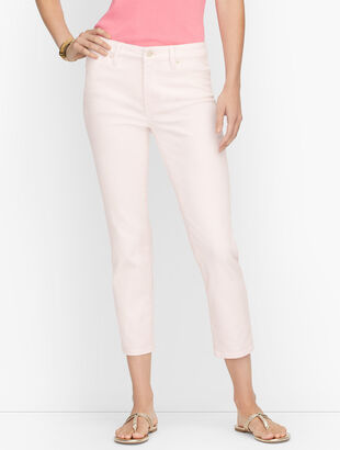 Straight Leg Crop Jeans - Garment Dyed Pink Salt