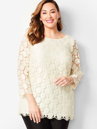 Scallop-Trim Lace Top