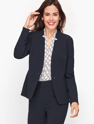 Easy Travel Stand Collar Blazer