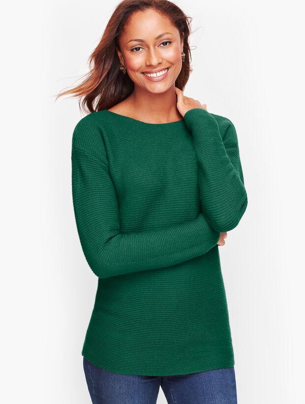 Horizontal Shaker Stitch Sweater