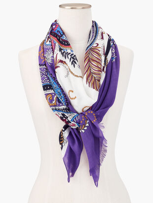 Feather Paisley Scarf