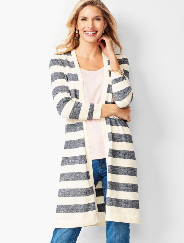 Marled-Stripe Pima Cotton Duster