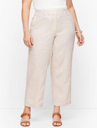 Linen Straight Leg Crop Pants