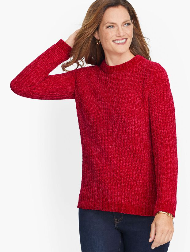 Cozy Chenille Crewneck Sweater