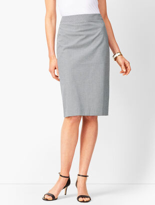 Tailored Gingham Pencil Skirt