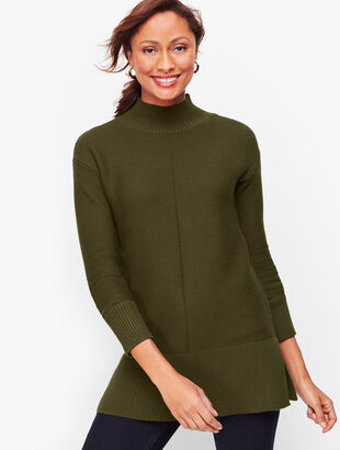 Links Stitch Mockneck Sweater