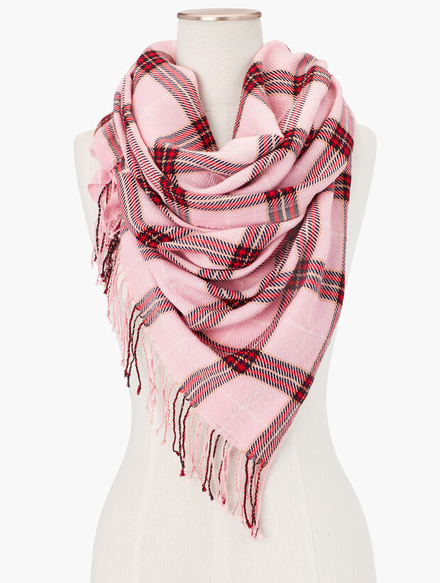 Wool Plaid Oblong Scarf by Talbots