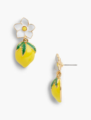 Flower & Lemon Earrings