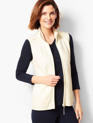 Twill Knit Vest - Ivory