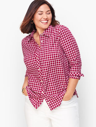 Classic Cotton Shirt - Woodland Berry Gingham