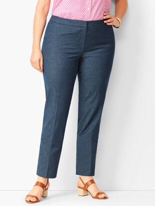 Plus Size Talbots Hampshire Ankle Pants - Polished Denim