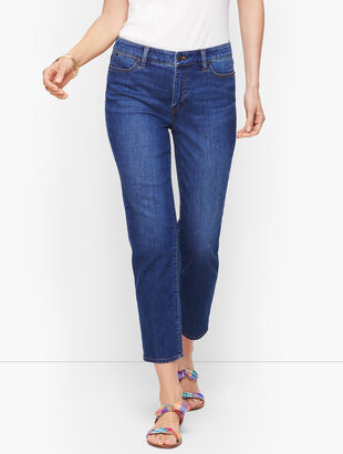 Straight Leg Crop Jeans - Varick Wash