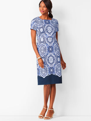 Medallion Sheath Dress