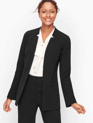 Easy Travel Pinstripe Jacket
