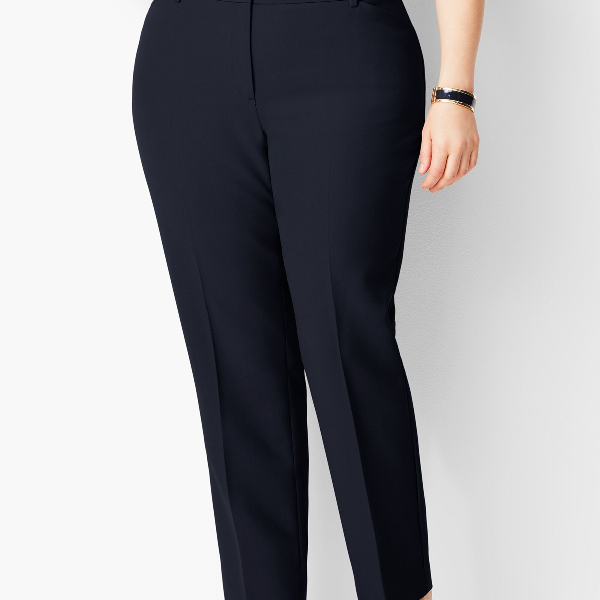 58acc5e9c8 Plus Size High-Waist Tailored Ankle Pant - Curvy Fit