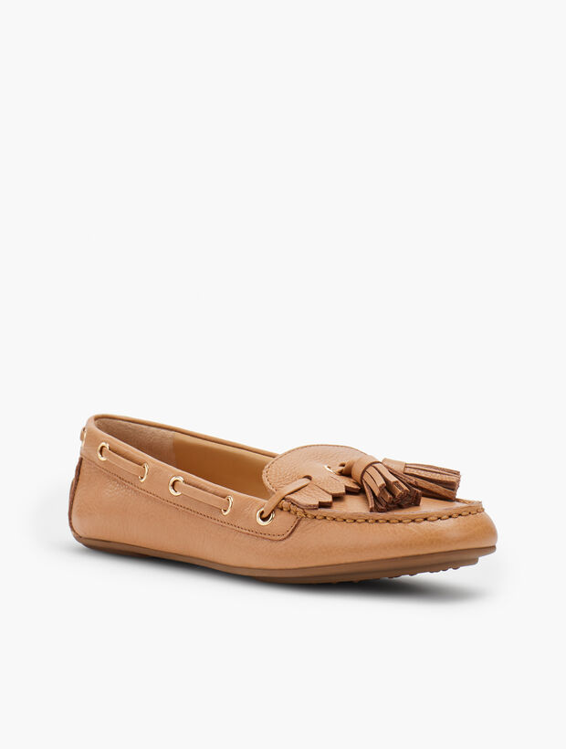 Everson Driving Moccasins - Pebble Leather