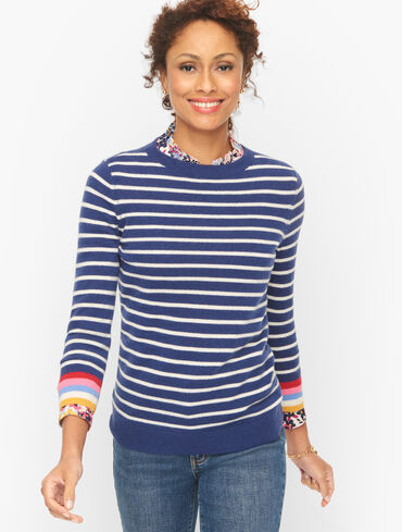 Audrey Stripe Cashmere Sweater