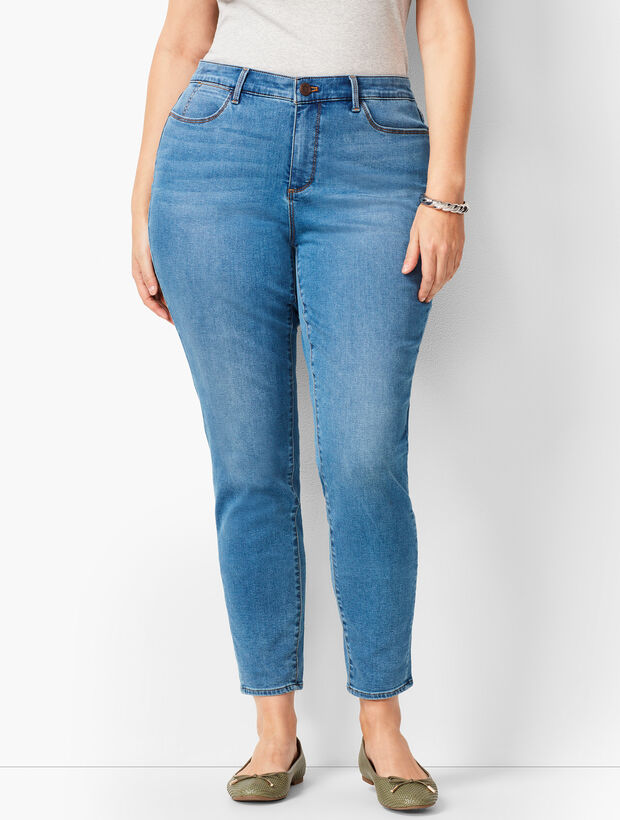 Plus Size Denim Jeggings - Orbit Wash - Curvy Fit
